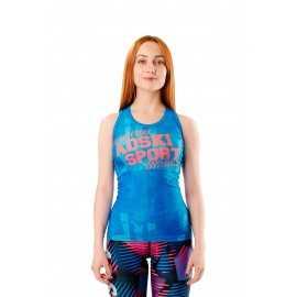 Майка-борцовка Graffiti blue