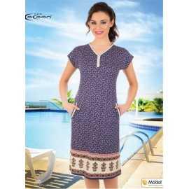 Платье Cocoon фиолетовое с...