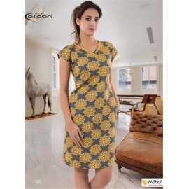 Платье COCOON жёлтое с...