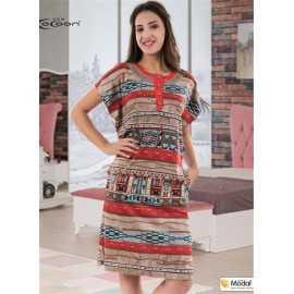 Платье COCOON с африканским...